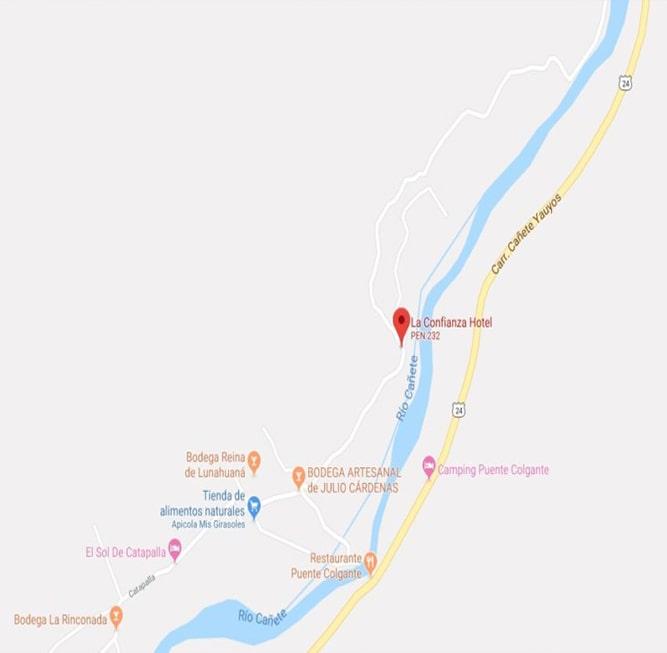 Mapa Lunahuaná
